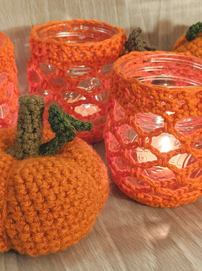 Trellis Pumpkin Jar Covers