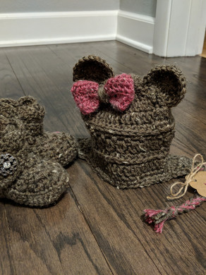 Baby Bear Hat and Booties