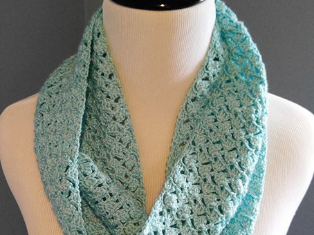 Teal Shell Scarf: The *Calming* Effects of Crochet
