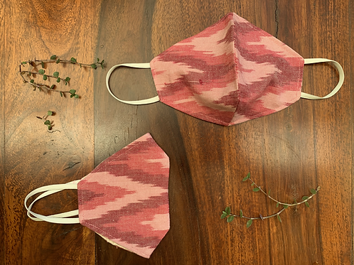 Strawberry Ikat Mask (Set of 2)