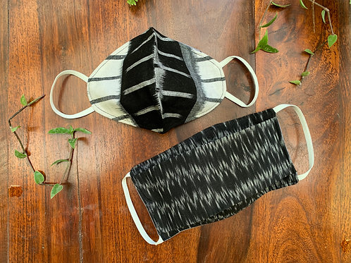 B&W Combo Mask (Set of 2)