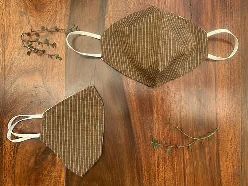 Walnut Stripe Mask (Set of 2)
