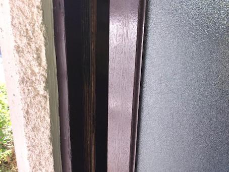 【旭川 引戸鍵】玄関入口引戸に鍵穴を新規取付しました。