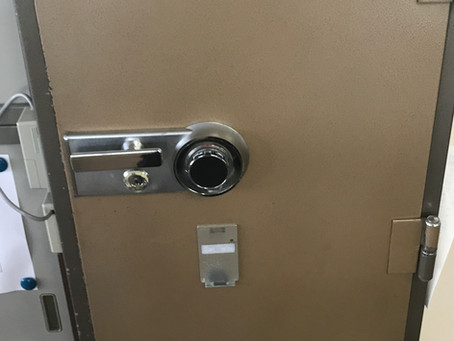 【旭川 金庫鍵】ウチダ業務用金庫のダイヤル鍵開け作業をしました。