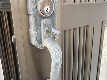 【帯広 鍵不調】玄関ドアの鍵が不調な為、交換しました。