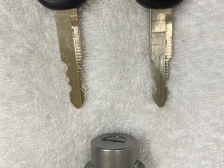 【旭川 鍵穴組替え】三菱車両の鍵穴を組替えしました。
