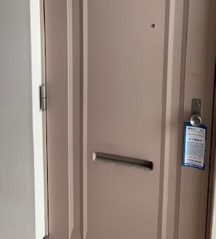 【旭川 鍵交換】玄関ドアの鍵穴(ミワPMK)を交換しました。