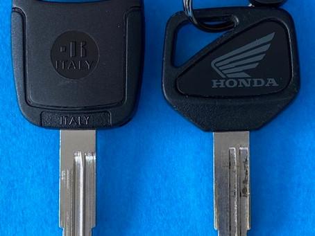 【旭川 バイク鍵】ホンダCBRの合鍵を作成しました。