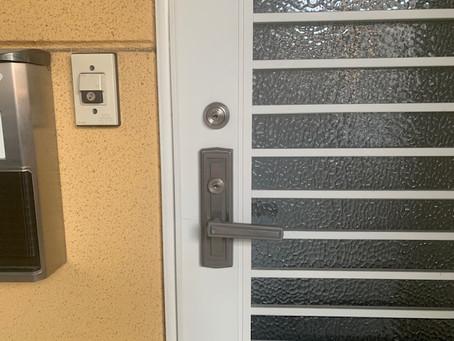 【帯広 鍵交換】玄関ドアの鍵穴を交換しました。
