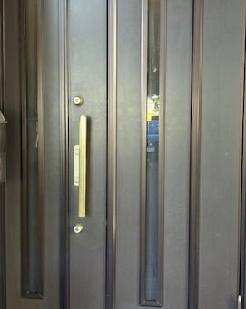 【帯広 鍵故障】玄関ドア(三協アルミアルピーネ)サムターンが故障した為作業しました。