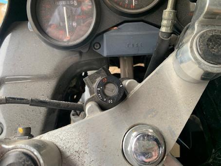 【帯広 バイク鍵】ホンダバイクの鍵を紛失した為、作成しました。