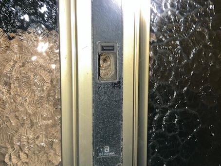 【旭川 引戸鍵】玄関引戸錠の鍵穴交換をしました。