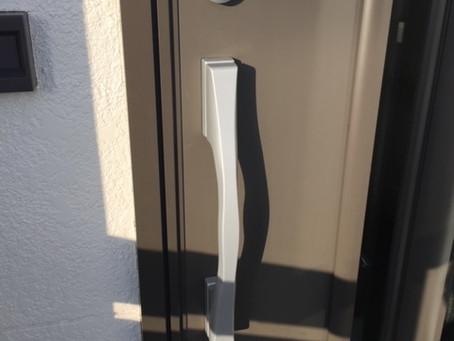 【帯広 鍵穴交換】玄関ドアの鍵穴を交換しました。