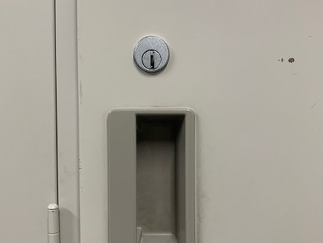 【帯広 ロッカー鍵】コクヨロッカーの鍵穴を交換しました。