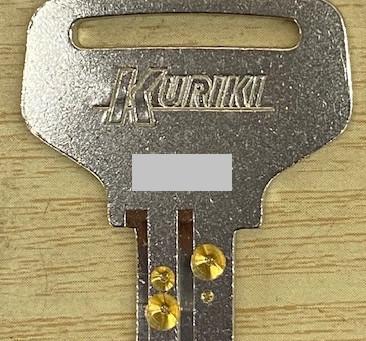 【旭川 合鍵】室内間仕切り引戸の合鍵を作成しました。