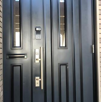 【旭川 玄関鍵】玄関ドアに暗証番号錠を取付しました。