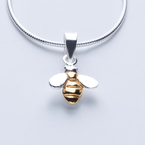 Silver & Gold Bee Necklace