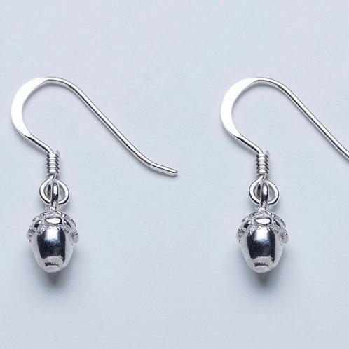 Silver Acorn Drops
