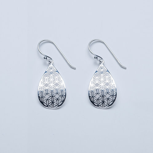Filigree Teardrop Drop Earrings