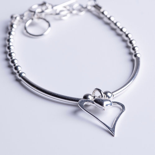 Heart within a Heart Bracelet