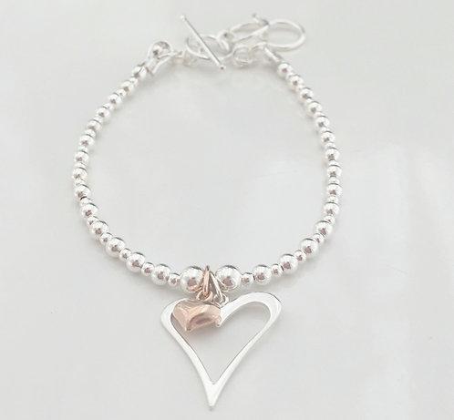 Heart within a Heart Bracelet
