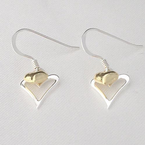 Gold & Silver Hearts