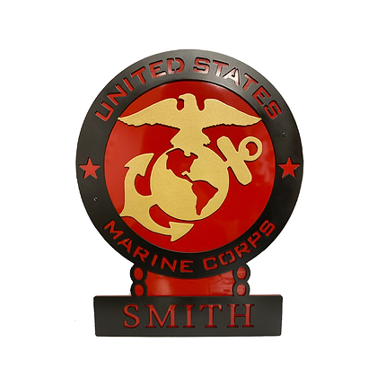 Personalized Marine Corps Sign