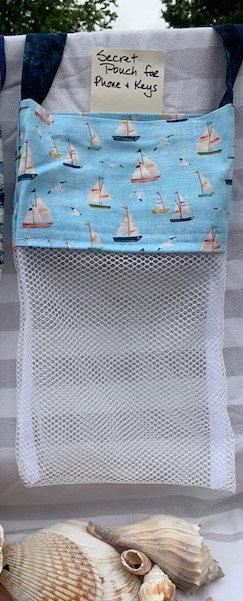 Lg Beach Combing Bags: Sailboats