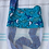 Thumbnail: Small (Kid Size) Beach Combing Bags: Blue Sharks