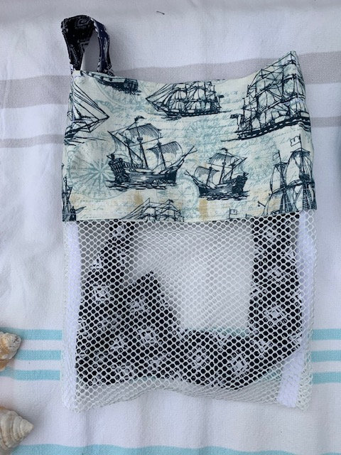 Small (Kid Size) Beach Combing Bags: Tall Ships