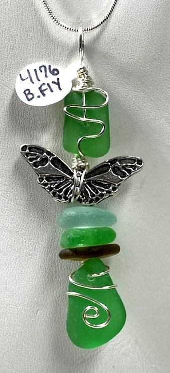 Seaglass Butterfly Angel 4176