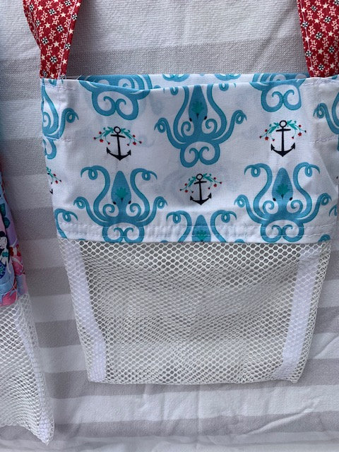 Small (Kid Size) Beach Combing Bags: Octopus & Anchors