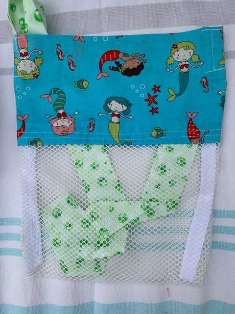 Small (Kid Size) Beach Combing Bags: Bubbly Mermaids