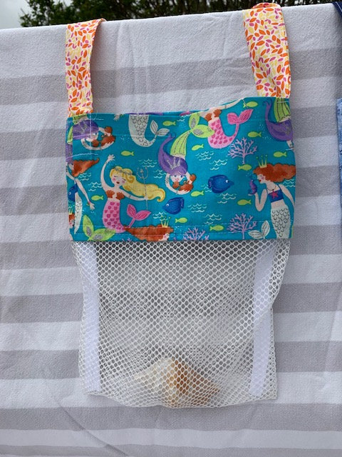 Small (Kid Size) Beach Combing Bags: Glitter Mermaids