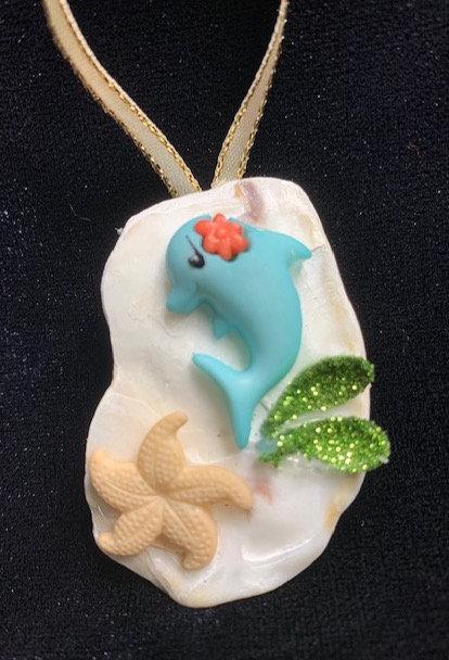 Seashell Ornaments: Dolphin & Starfish