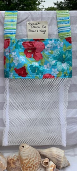 Lg Beach Combing Bags: Floral Prints