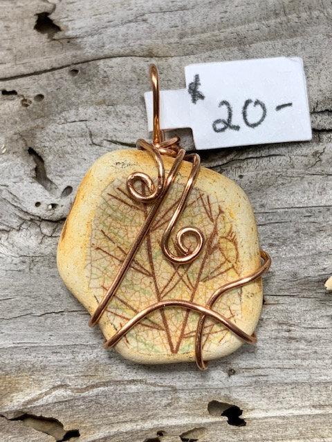 Sea Pottery pendant #4367