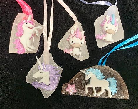 WP Kids Seaglass and Seashell Necklaces: Unicorns