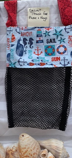 Lg Beach Combing Bags:  Ahoy