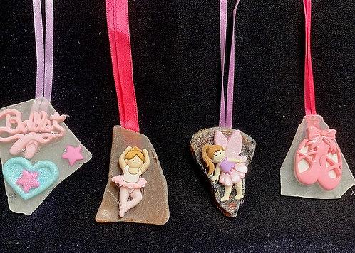 Kids Seaglass & Seashell Necklaces: Ballet