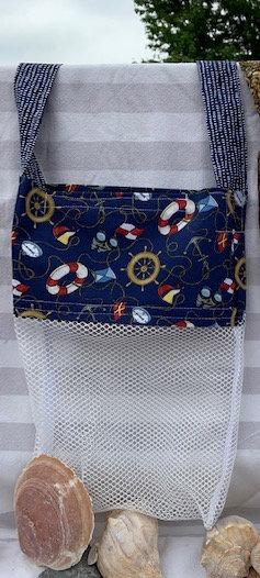 Lg Beach Combing Bags:  Nautical Things