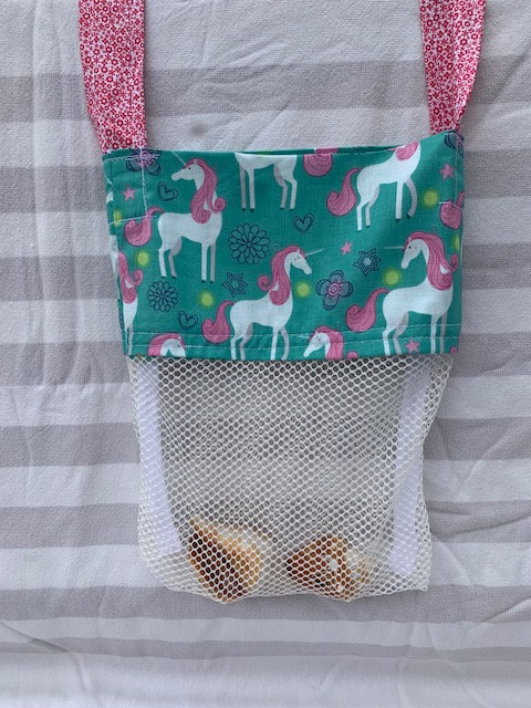 WP Small (Kid Size) Beach Combing Bags: Unicorns