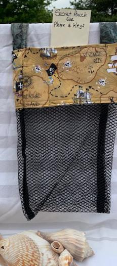 Lg Beach Combing Bags:  Treasure Map