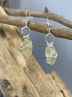 WP Yellow Seaglass earrings