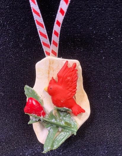 WP Seashell Ornament: Cardinal