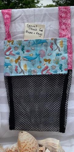 WP Lg Beach Combing Bags: Mermaids, Whales & Seahorses