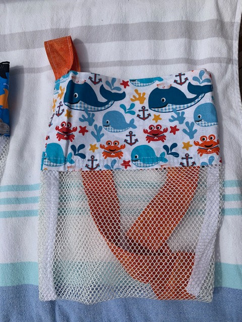 WP Small (Kid Size) Beach Combing Bags: Whales & Sailboat
