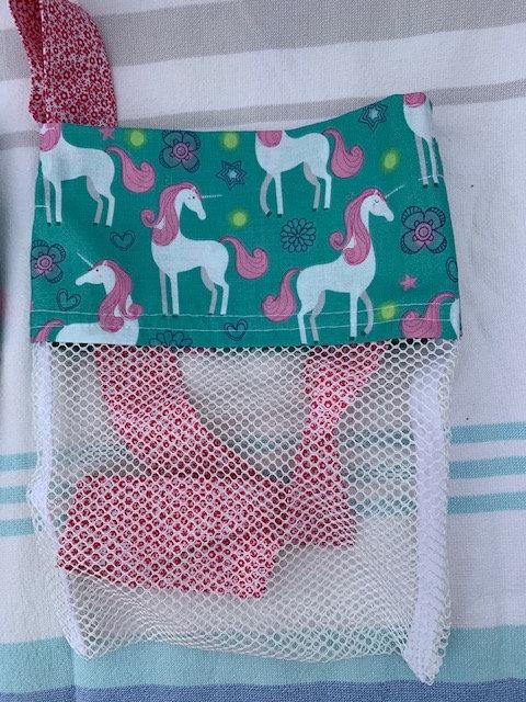 Small (Kid Size) Beach Combing Bags: Unicorns