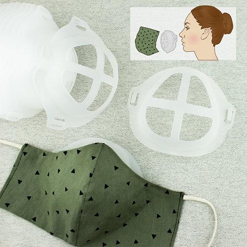 Abstandshalter für Mund-Nase-Bedeckung, transparent