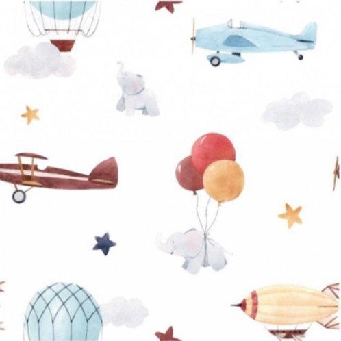Ballons und Flugzeuge